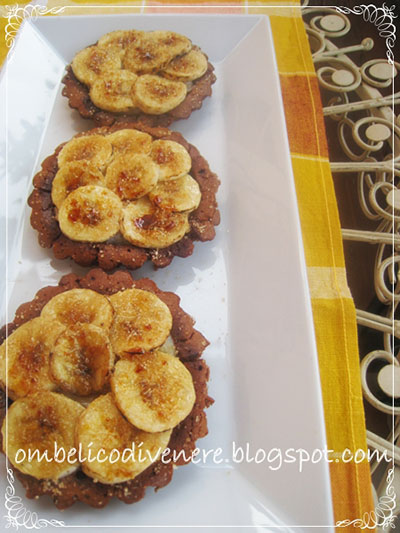 crostatine fondenti alla banana