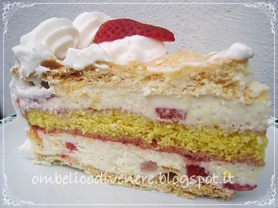 torta diplomatica alla fragola