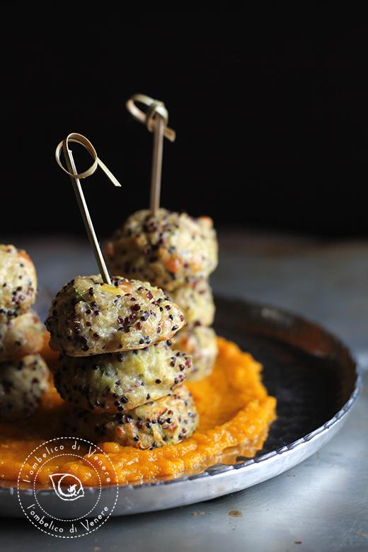 polpette di quinoa porri scamorza e zucca