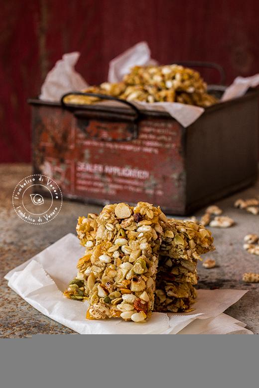 barrette ai cereali semi e bacche di goji