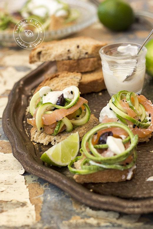 insalata di zucchine salmone e mozzarella1