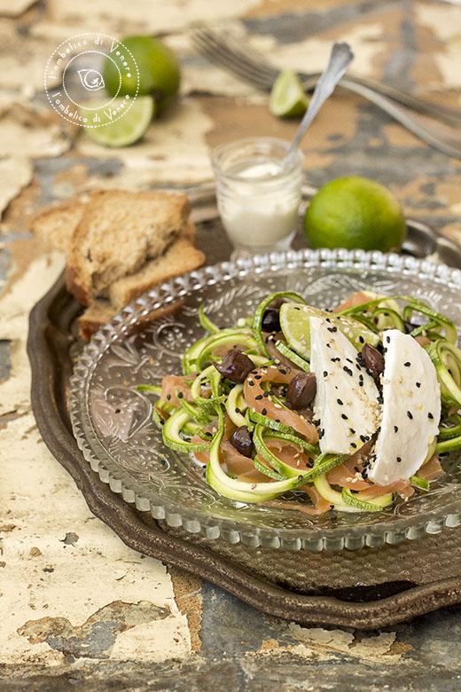 insalata di zucchine salmone e mozzarella3