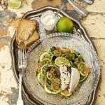 Insalata di zucchine salmone e mozzarella