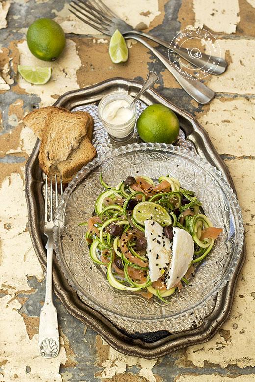insalata di zucchine salmone e mozzarella4
