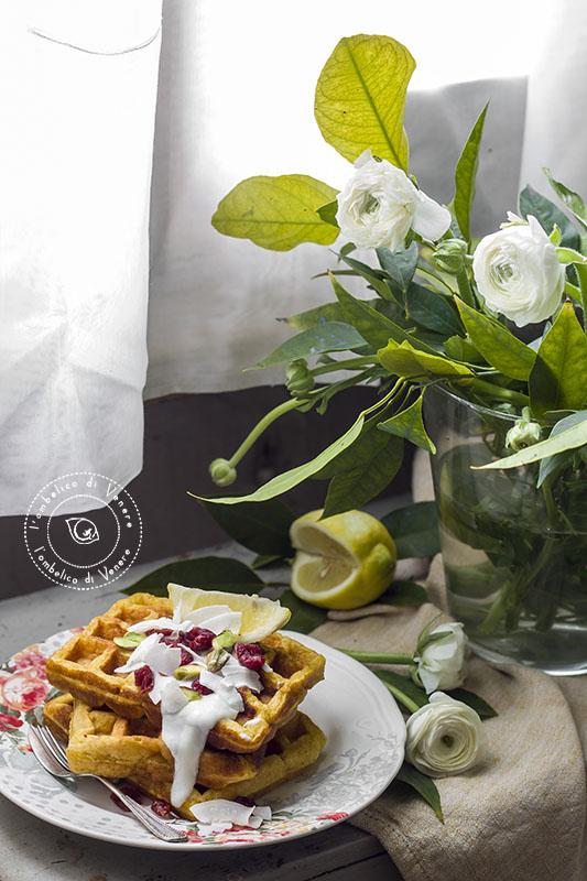 waffle integrali al cocco e limone2