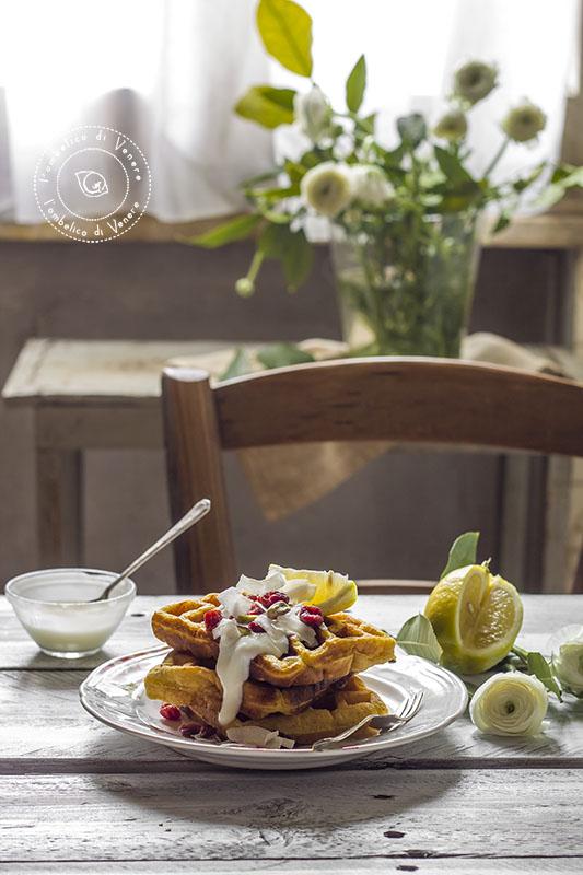 waffle integrali al cocco e limone3