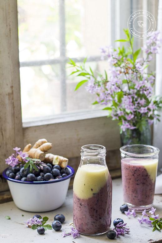 smoothie ananas mirtilli cretriolo e zenzero3