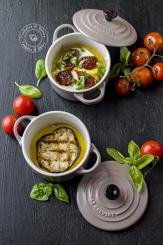 clafoutis salato in cocotte con bufala e melanzane 4