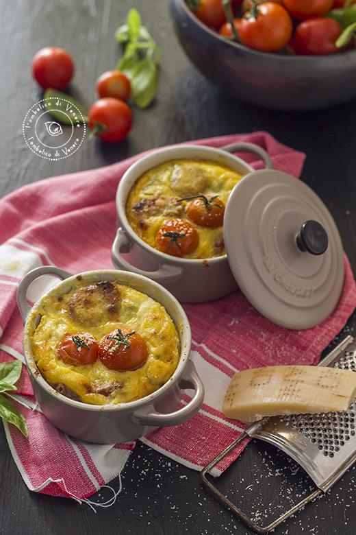 clafoutis salato in cocotte con bufala e melanzane 7