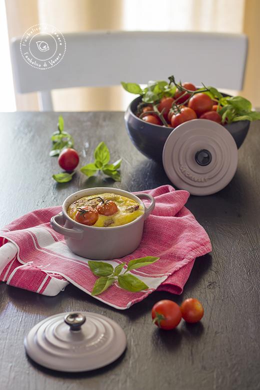clafoutis salato in cocotte con bufala e melanzane 8