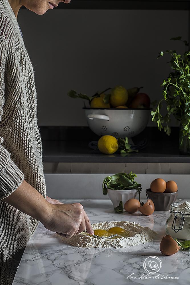 tortelli con spinaci casatella e asiago