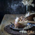 budino veg al cioccolato e mandorla con gelatina di zenzero e CaoZen