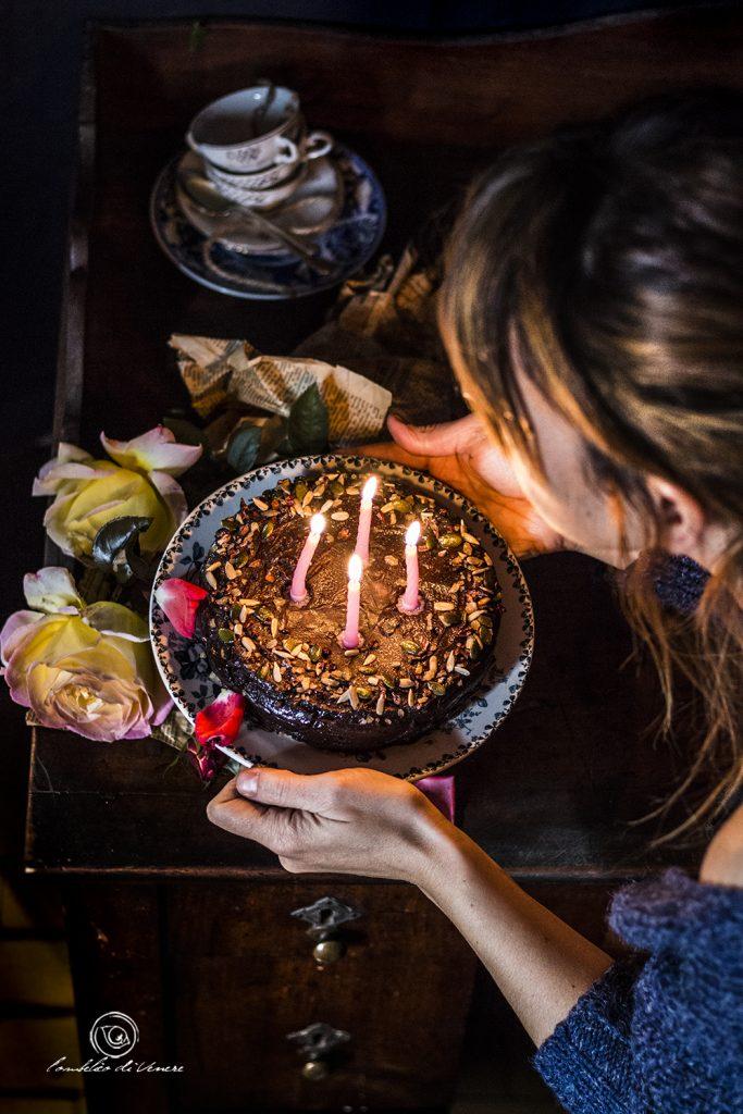 Torta veg senza glutine al cioccolato e caffè